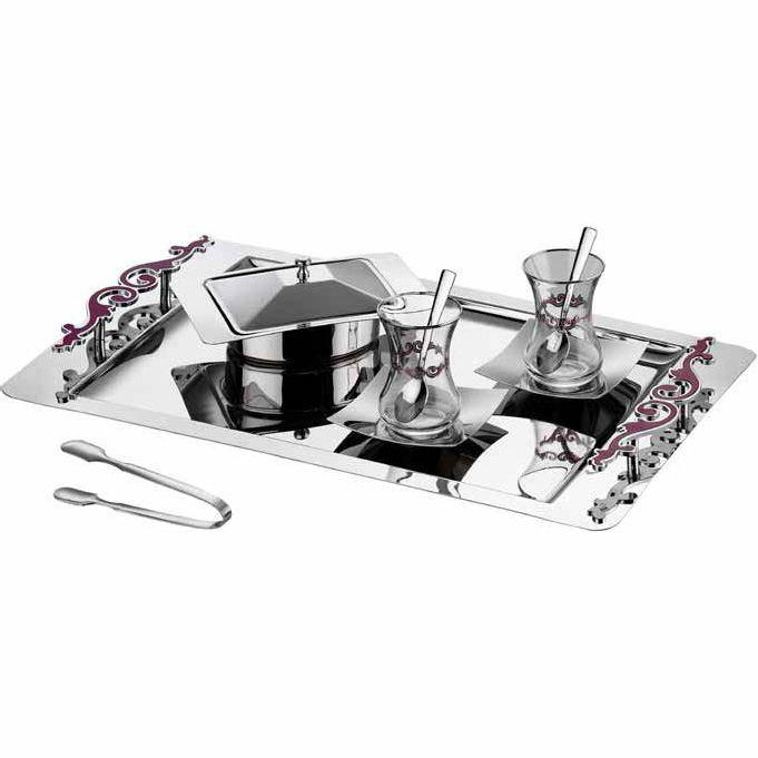 Model: Destan Avangard Plum Tea Sets