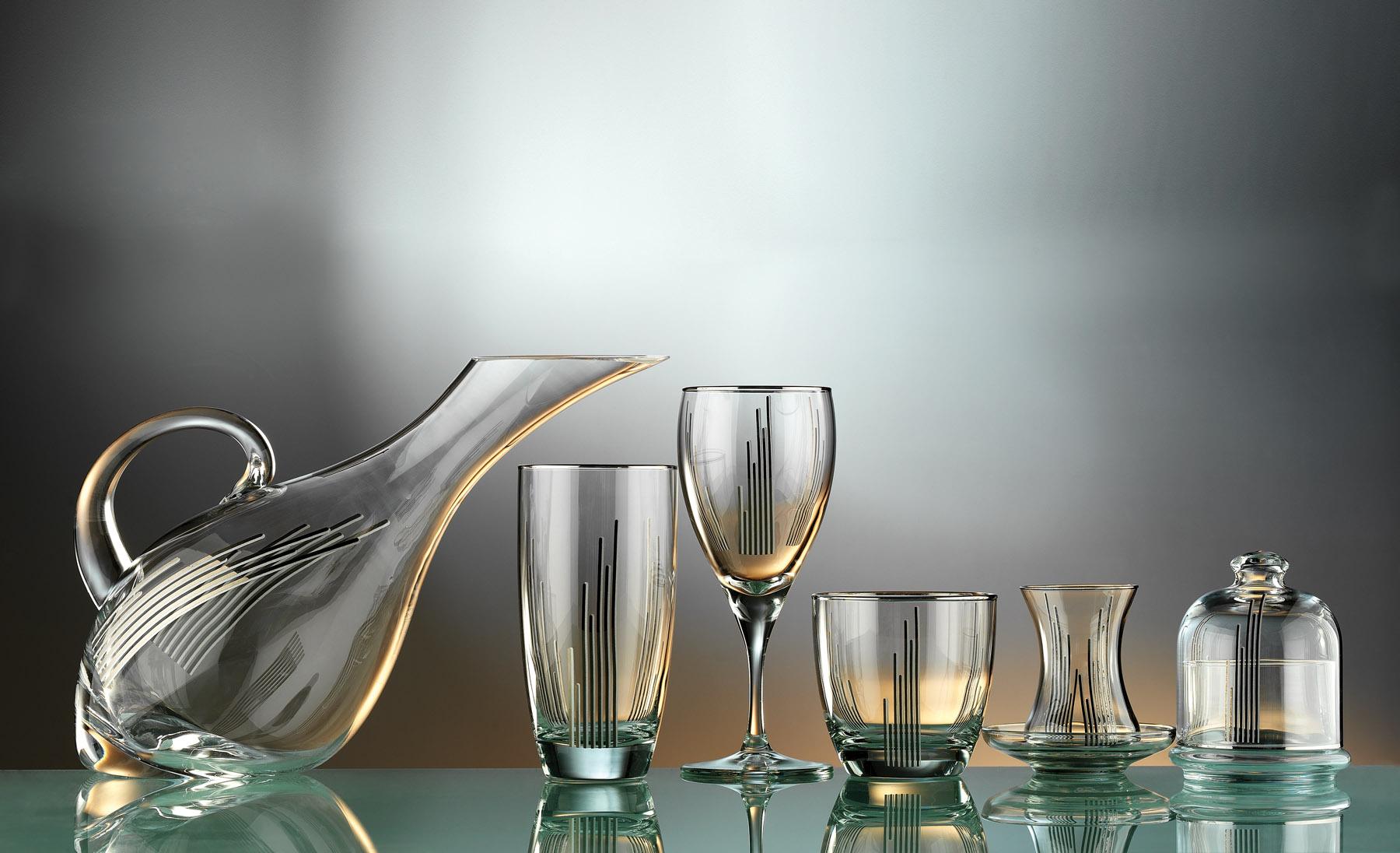 Lapis Glass Service Set